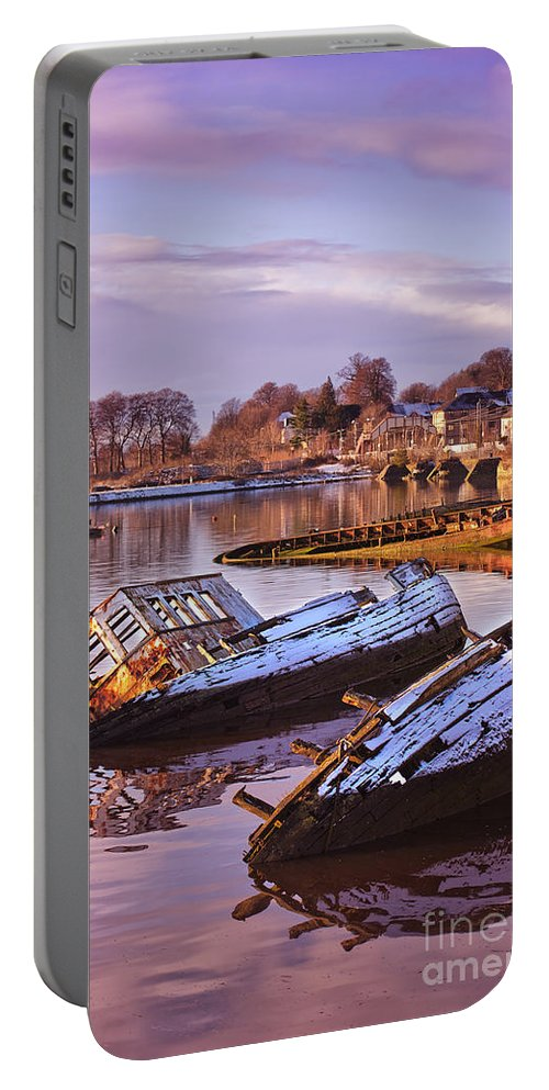 Bowling Portable Battery Charger featuring the photograph Bowling Harbour 03 by Antony McAulay