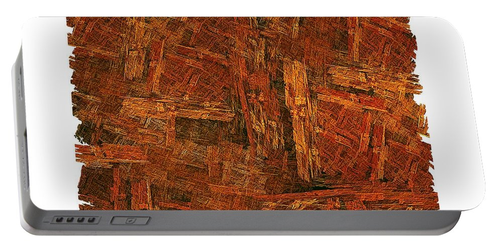 Fractal Wood Portable Battery Charger featuring the digital art Boxed-in by Doug Morgan