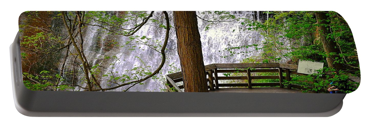 Waterfall Portable Battery Charger featuring the photograph Brandywine Falls by Frozen in Time Fine Art Photography