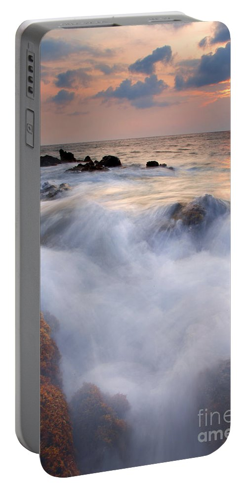 Kameole Beach Portable Battery Charger featuring the photograph Break In The Storm by Mike Dawson