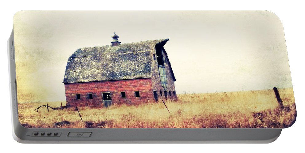 Barn Portable Battery Charger featuring the photograph Brick Barn Ll by Julie Hamilton