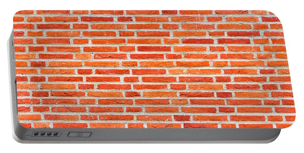 Wall Portable Battery Charger featuring the photograph Brick Wall Texture by Dutourdumonde Photography