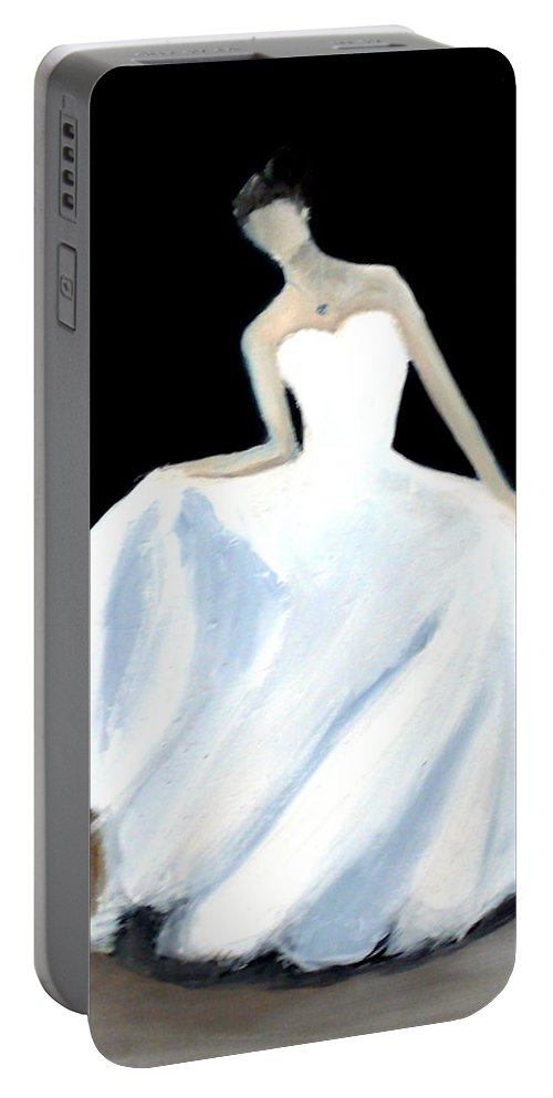 Bride Portable Battery Charger featuring the painting Bride by Katy Hawk