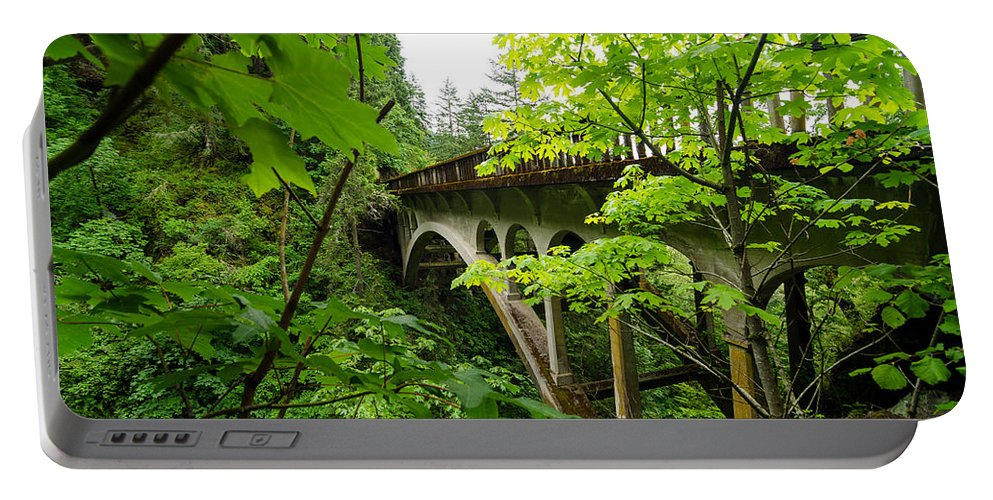 Nature Portable Battery Charger featuring the photograph Bridge And Lush Vegetation by Jess Kraft
