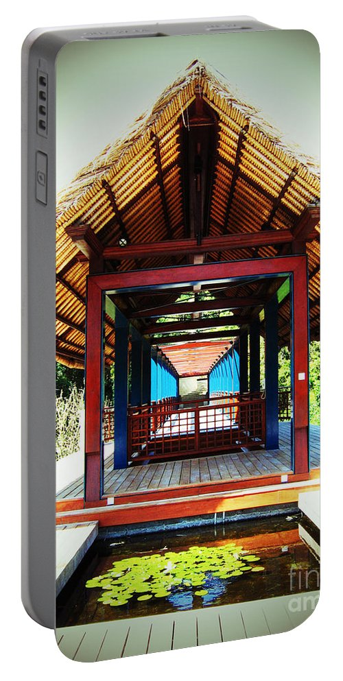 Bridge Portable Battery Charger featuring the photograph Bridge At Ubud by Marguerita Tan