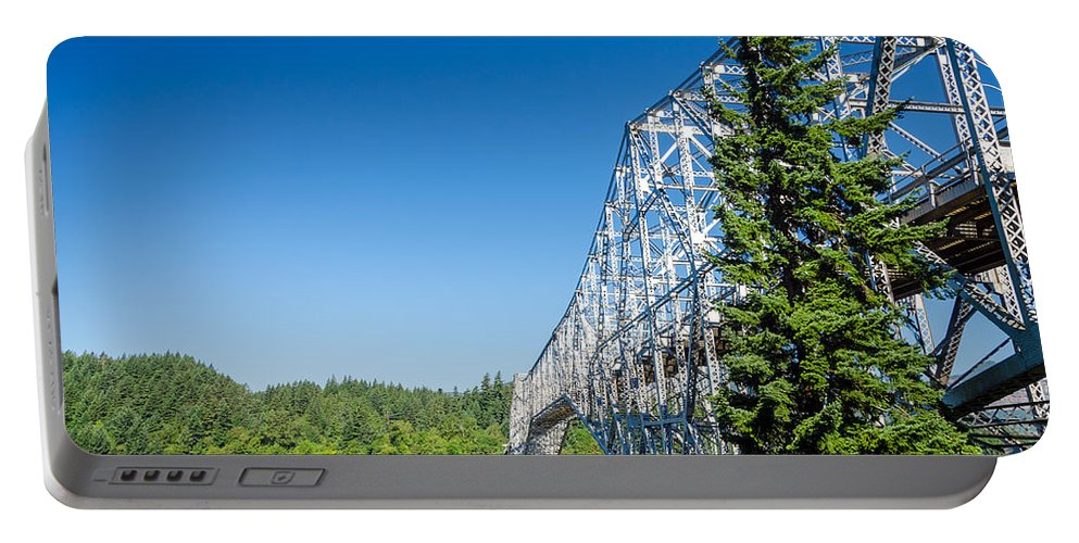 Bridge Portable Battery Charger featuring the photograph Bridge Connecting Oregon And Washington by Jess Kraft