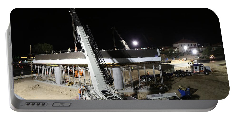 Bridge Girders Portable Battery Charger featuring the photograph Bridge Girders by Chris Martin