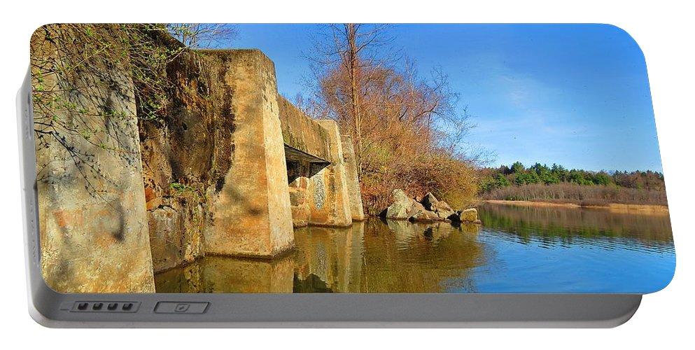 Concrete Trestle Bridge Portable Battery Charger featuring the photograph Concrete Trestle Bridge by MTBobbins Photography