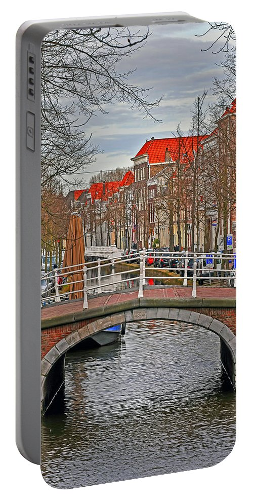Travel Portable Battery Charger featuring the photograph Bridge Of Delft by Elvis Vaughn