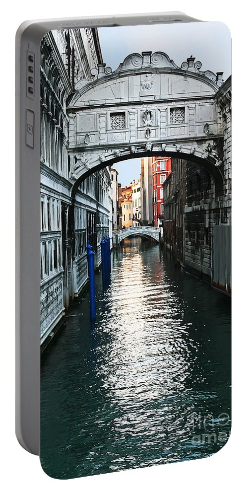 Travel Portable Battery Charger featuring the photograph Bridge Of Sighs by Elvis Vaughn