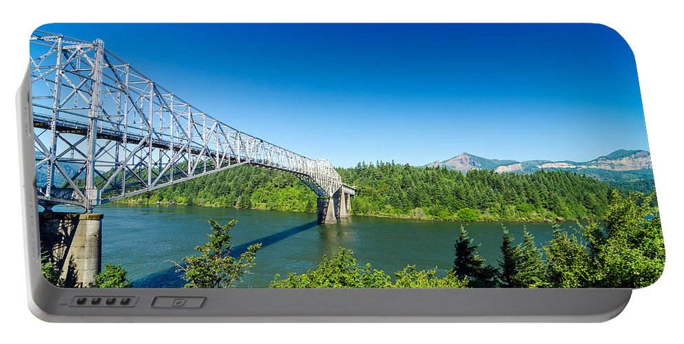 Bridge Portable Battery Charger featuring the photograph Bridge Of The Gods by Jess Kraft
