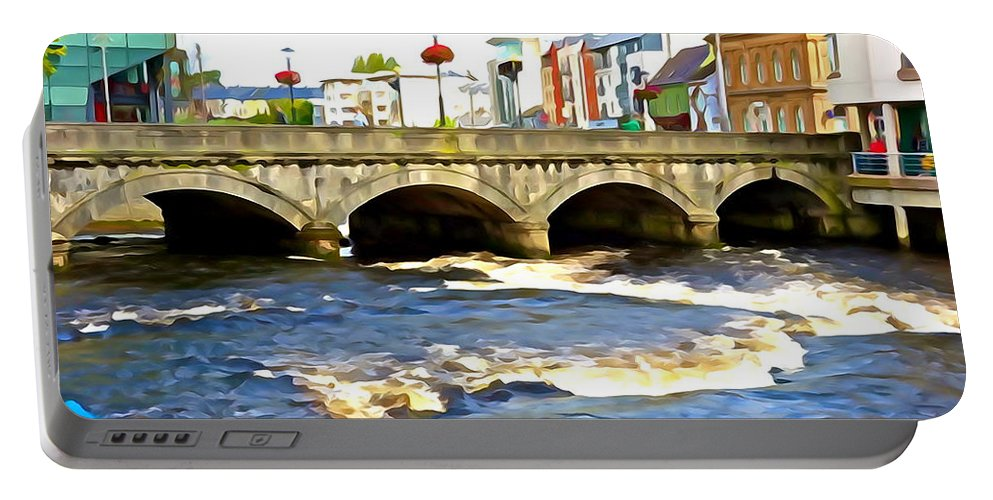 Bridge Portable Battery Charger featuring the photograph Bridge On The Garavogue by Charlie and Norma Brock