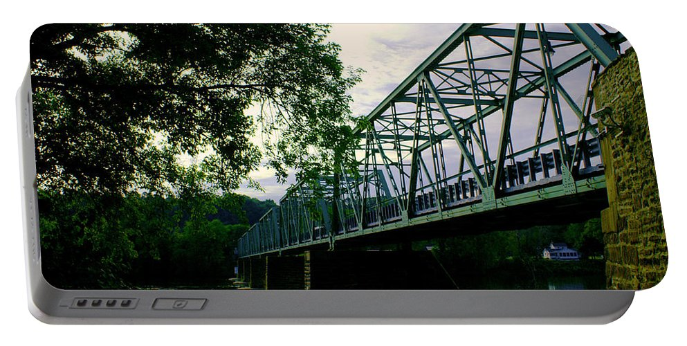 Frenchtown Portable Battery Charger featuring the photograph Bridge by Pablo Rosales