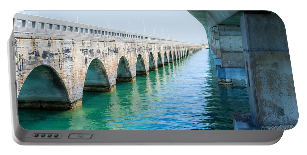 Keys Portable Battery Charger featuring the photograph Bridges New And Old by Shannon Harrington