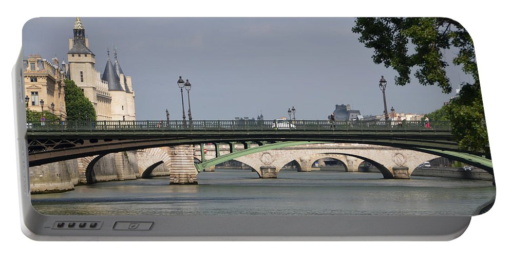 Bridges Portable Battery Charger featuring the photograph Bridges Over The Seine And Conciergerie - Paris by RicardMN Photography
