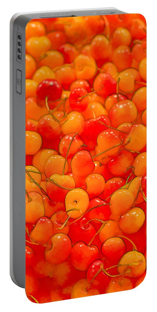 Cherry Portable Battery Charger featuring the photograph Bright And Orange by Scott Campbell
