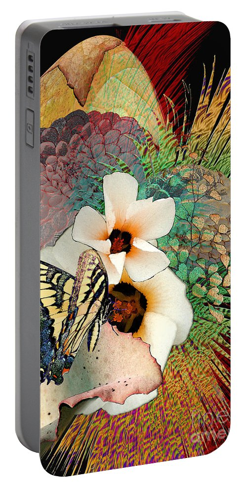 Butterfly Portable Battery Charger featuring the digital art Brillance by Paul Gentille