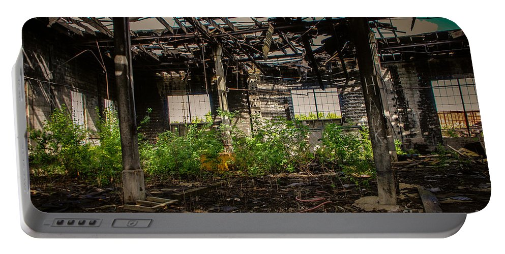 Destruction Portable Battery Charger featuring the photograph Bring The Outside In 3 by Grace Grogan