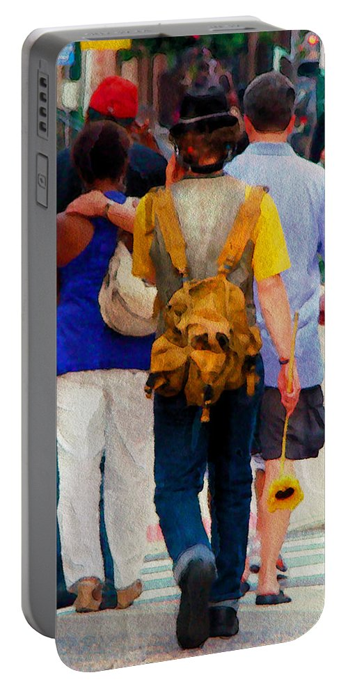 Man Portable Battery Charger featuring the photograph Bringing The Sunflower Home by Alice Gipson