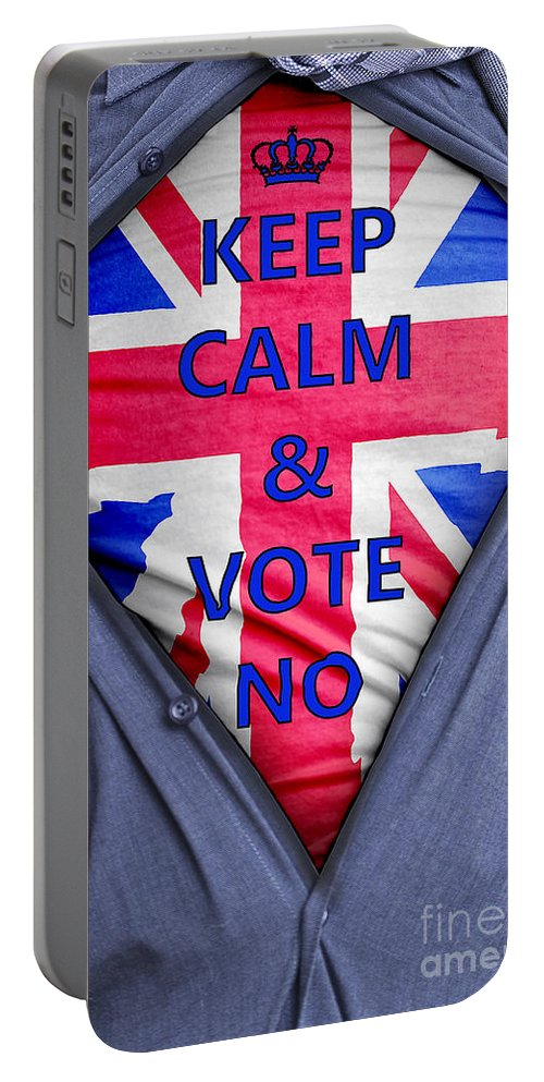Scotland Portable Battery Charger featuring the photograph British Businessman Votes No by Antony McAulay