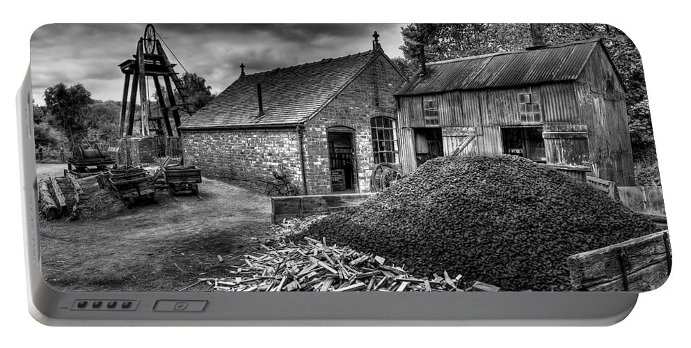 Mining Portable Battery Charger featuring the photograph British Mine by Adrian Evans
