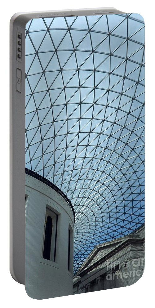 British Portable Battery Charger featuring the digital art British Museum by David Voutsinas
