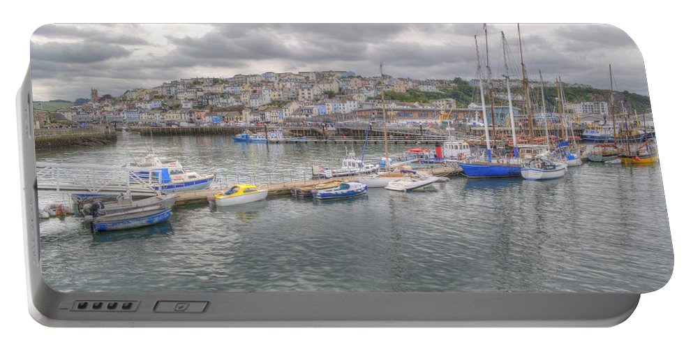 Brixham Portable Battery Charger featuring the photograph Brixham by Chris Day