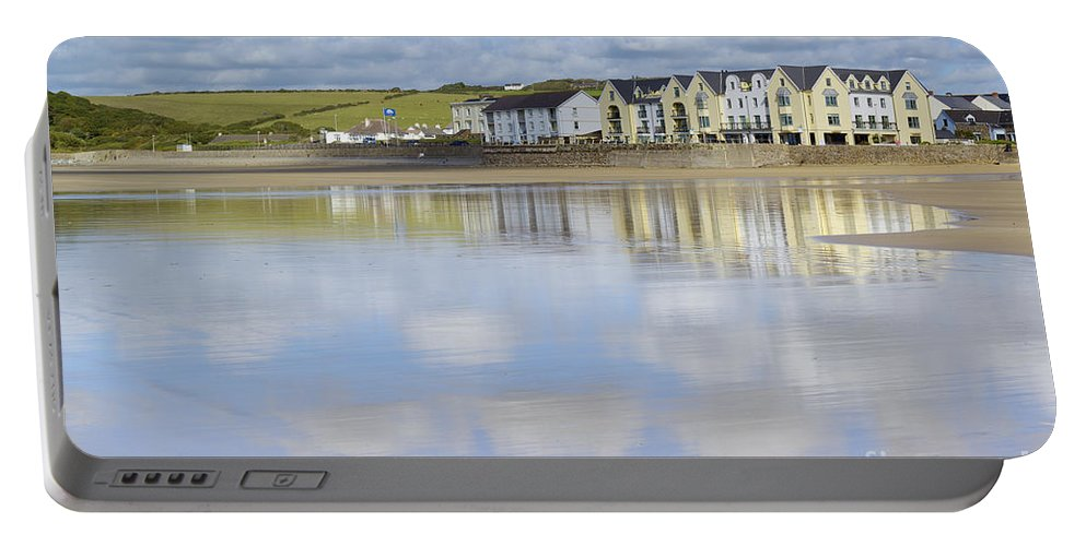 Doug Portable Battery Charger featuring the photograph Broad Haven Clouds by Doug Wilton