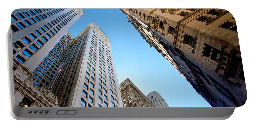 Architecture Portable Battery Charger featuring the photograph Broad Street Canyon by Jannis Werner
