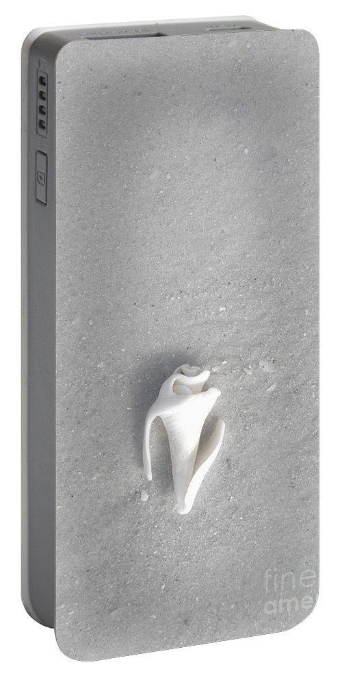 Shell Portable Battery Charger featuring the photograph Broken And Alone by Margie Hurwich