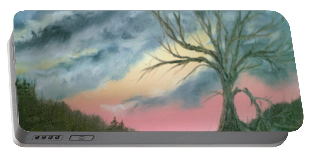 Broken Branches Portable Battery Charger featuring the painting Broken Branch by Jim Saltis