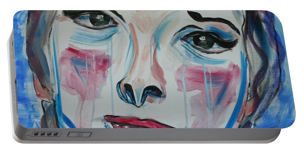 Broken Portable Battery Charger featuring the painting Broken by Christel Roelandt