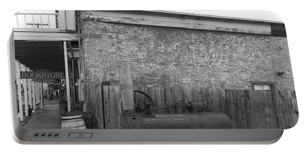 Virginia City Portable Battery Charger featuring the photograph Broken Donkey by Brent Dolliver