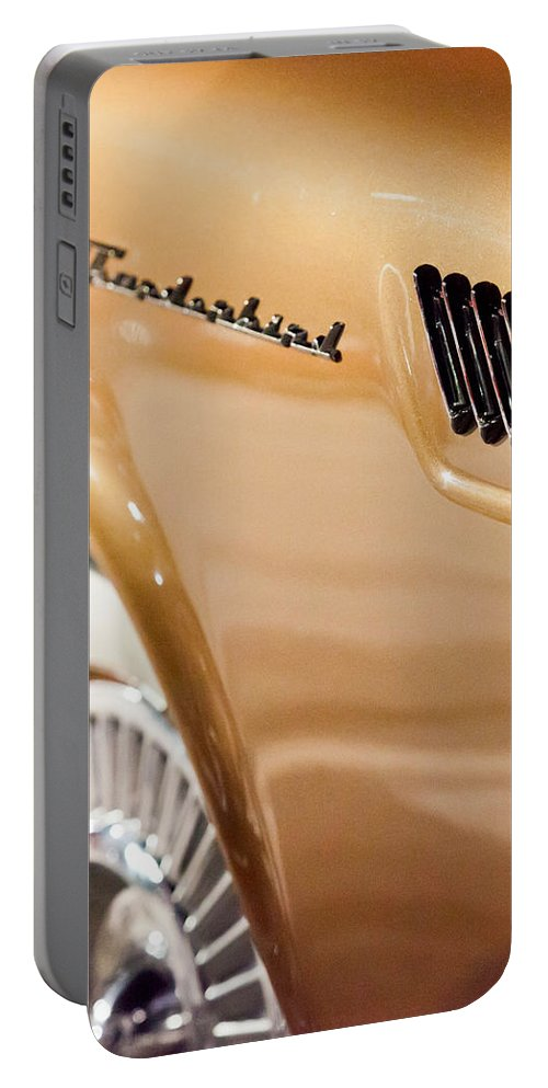 57 Thunderbird Portable Battery Charger featuring the photograph Bronze Body by Melinda Ledsome