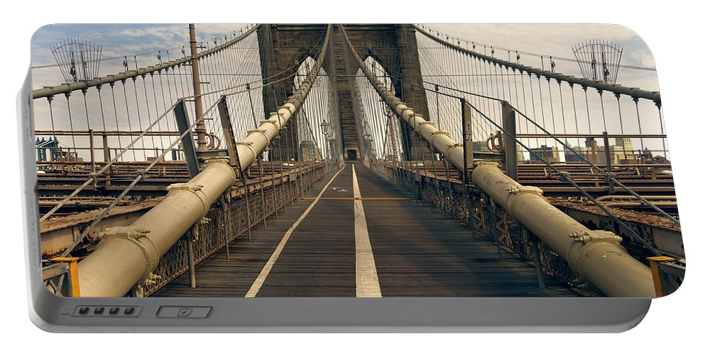 Brooklyn Portable Battery Charger featuring the photograph Brooklyn Bridge by Istvan Kadar