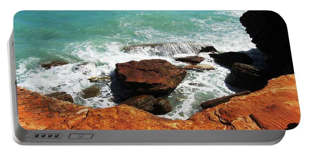 Ocean Portable Battery Charger featuring the photograph Broome Breaks by Vickie Roy-Sneddon