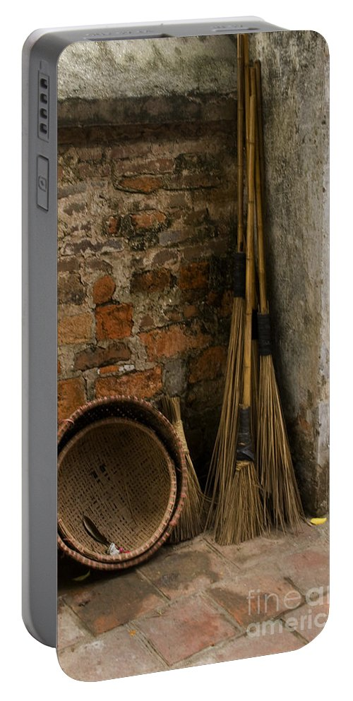 Brooms And Baskets Portable Battery Charger featuring the photograph Brooms  #0112 by J L Woody Wooden