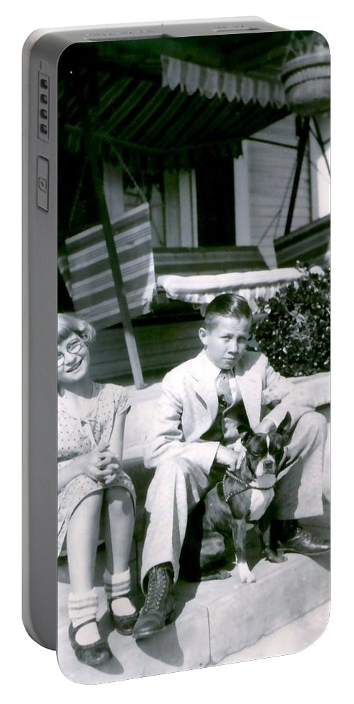 Vintage Portable Battery Charger featuring the photograph Brother And Sister by Image Takers Photography LLC