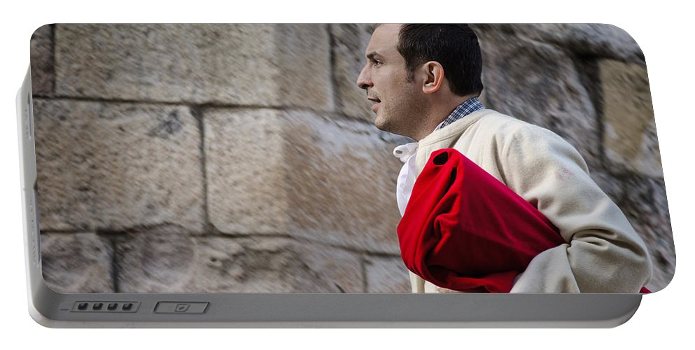 Brother Portable Battery Charger featuring the photograph Brother In Zamora by Pablo Lopez