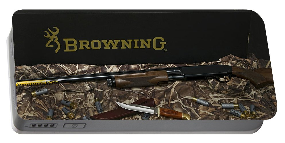 Browning Portable Battery Charger featuring the photograph Browning Bps Shotgun by Rob Mclean