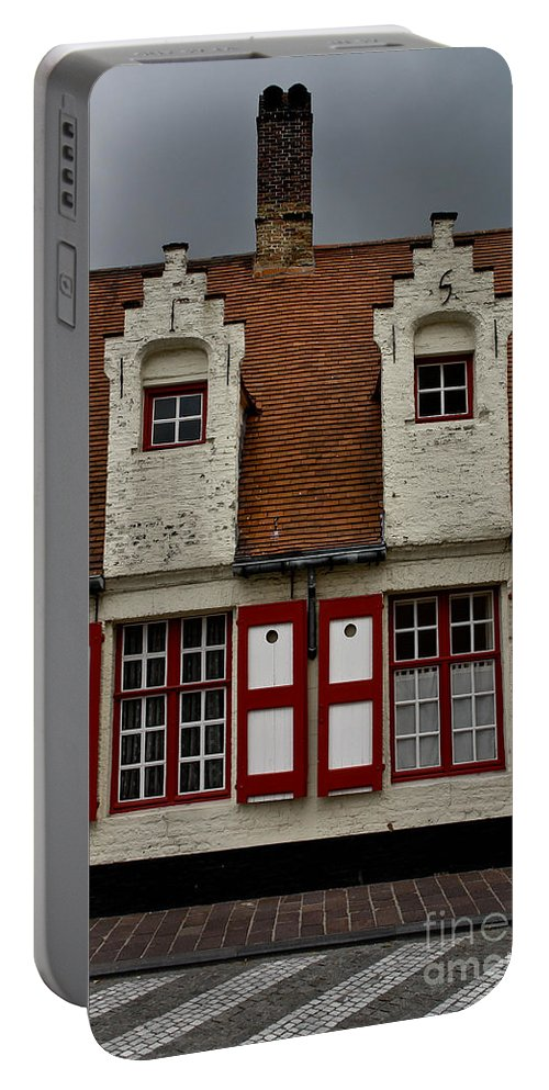 Beguinage House Portable Battery Charger featuring the photograph Bruges Houses by Brothers Beerens