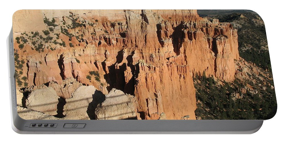 Rocks Portable Battery Charger featuring the photograph Bryce Canyon Hoodoos by Christiane Schulze Art And Photography