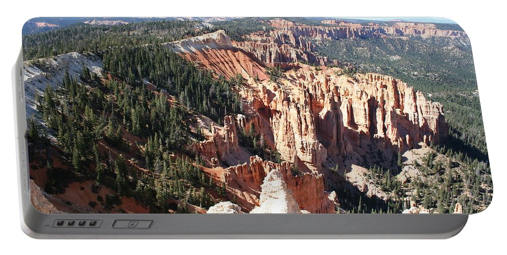 Canyon Portable Battery Charger featuring the photograph Bryce Canyon Hoodoos Landscape by Christiane Schulze Art And Photography