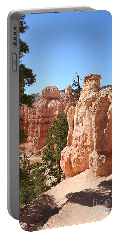 Canyon Portable Battery Charger featuring the photograph Bryce Canyon Red Rocks by Christiane Schulze Art And Photography