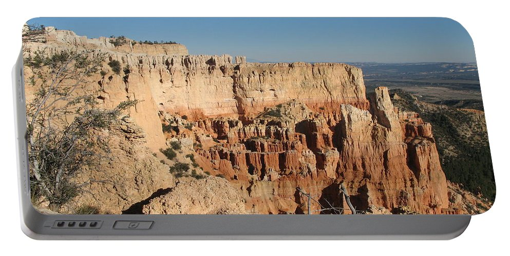 Rocks Portable Battery Charger featuring the photograph Bryce Canyon Scenic View by Christiane Schulze Art And Photography