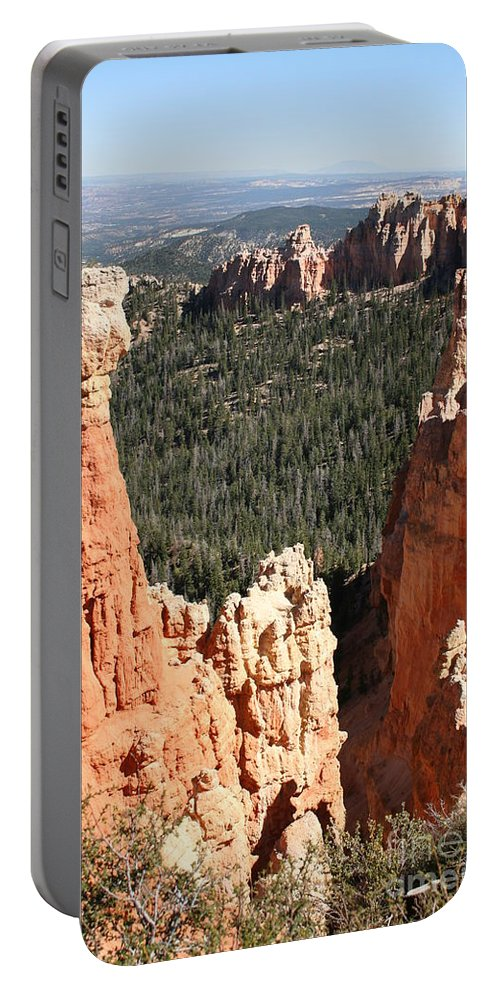 Canyon Portable Battery Charger featuring the photograph Bryce Canyon - Thors Hammer by Christiane Schulze Art And Photography