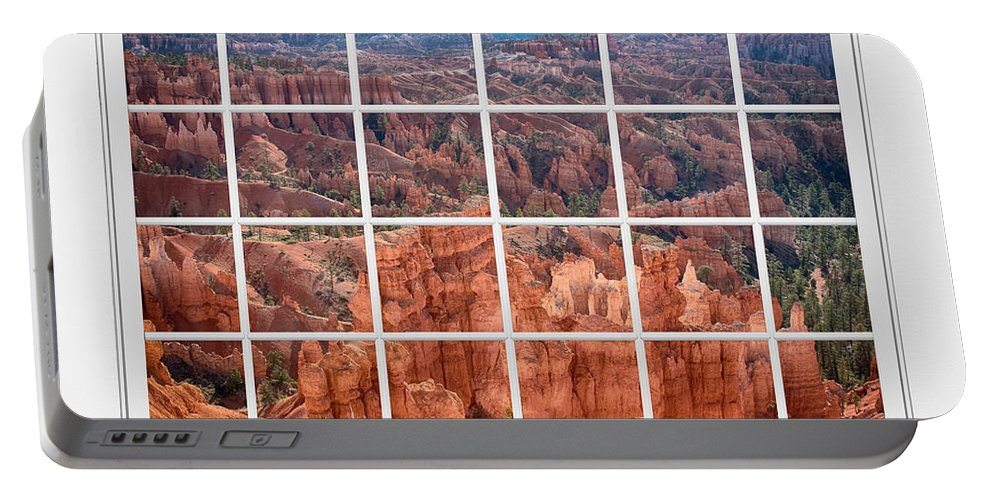 Bryce Canyon Portable Battery Charger featuring the photograph Bryce Canyon White Picture Window View by James BO Insogna