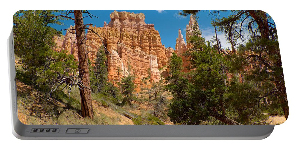 Bryce Canyon Portable Battery Charger featuring the photograph Bryce Hills 2 by Richard J Cassato