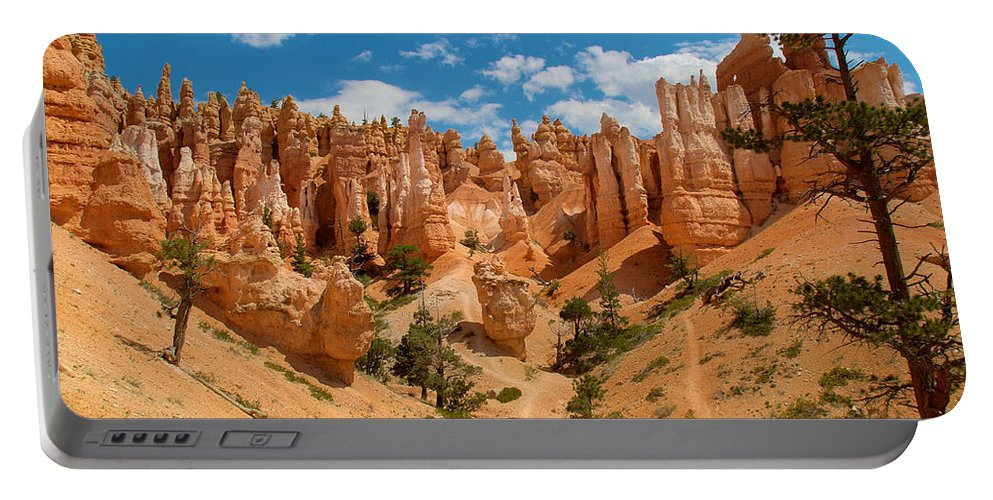Bryce Canyon Portable Battery Charger featuring the photograph Bryce Hills 3 by Richard J Cassato