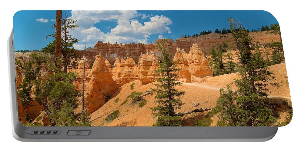 Bryce Canyon Portable Battery Charger featuring the photograph Bryce Hills 4 by Richard J Cassato